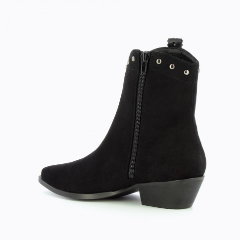 Black Cowboy boots with laced strap