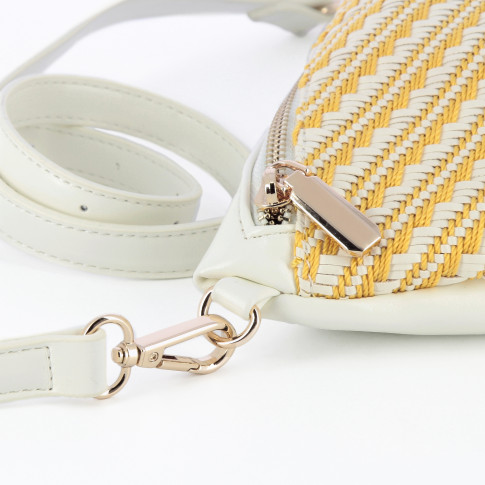 White and yellow fanny bag